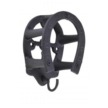 Porte bridon -fer à cheval- en fer forgé--