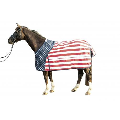 """Couverture """"STARS & STRIPES"""" doublure polaire by HKM"""