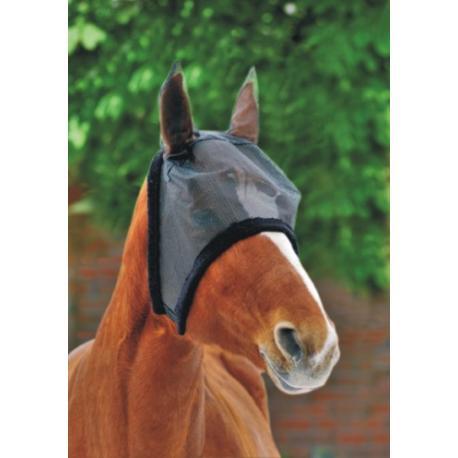 Masque anti-mouches avec bord en peluche HKM