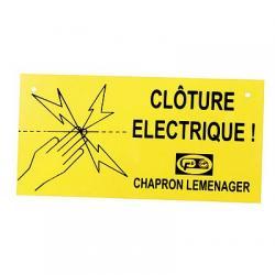 """Plaque indicatrice obligatoire """"Clôture électrique"""" - Chapron"""