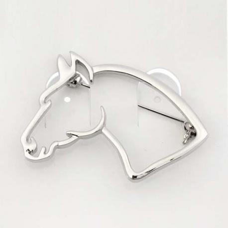 """Broche """"HORSE HEAD"""" - Argentée ou dorée"""
