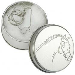 """Collier """"HORSE HEAD"""" argenté"""