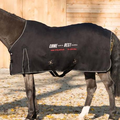 """Couverture """"Come best"""" noir, 135cm"""