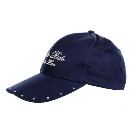 """Casquette avec strass """"EXKLUSIVE"""" by HKM"""